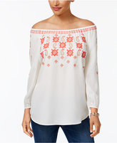 Charter Club Embroidered Top, Only at Macy's