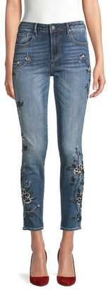 Driftwood Jackie Scorpio Floral Embroidery Cigarette Jeans