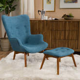 Langley Street Canyon Vista Mid-Century Lounge Chair and Ottoman