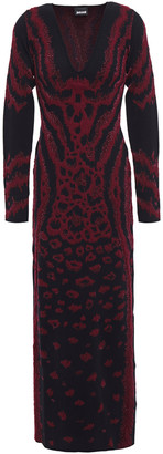 Just Cavalli Metallic Leopard-jacquard Maxi Dress