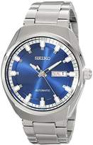 Seiko Men's SNKN41 Analog Display Automatic Self Wind Silver Watch by