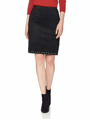 Karen Kane Women's Studded Faux Suede Skirt