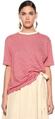 Marni Oversize Striped Cotton Jersey T-Shirt