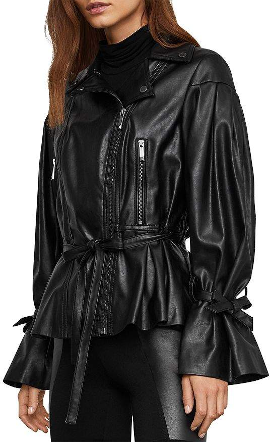 GUESS Women's Almost Leather Moto Jacket (Pu)