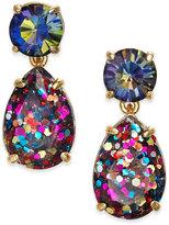 Kate Spade Gold-Tone Glitter Stone Drop Earrings