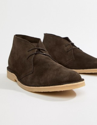 Pier 1 Imports desert boots in brown suede