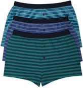 M&Co Stripe button front boxers three pack