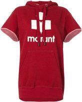 Etoile Isabel Marant short sleeve logo hoodie - women - Cotton/Polyester - 36