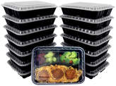 Freshware Reusable Bento Three-Compartment Food Container - Set of 15
