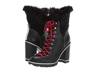 Sigerson Morrison Odelia (Black Leather/Faux Fur) Women's Boots