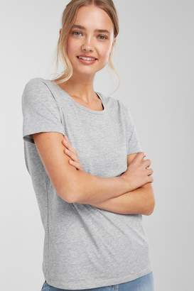 Next Womens Grey Marl Crew Neck T-Shirt - Grey