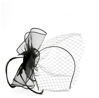 Collection Crinoline Fascinator With Feathers And Veil Fascinator