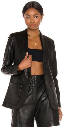 Amanda Uprichard X REVOLVE Leather Shawl Blazer