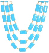 Kate Spade Park Guell 3 Row Bib Necklace