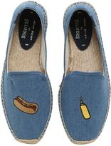 Soludos Hotdog Embroidered Cotton Espadrilles