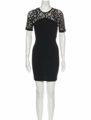 Co Crew Neck Mini Dress Black