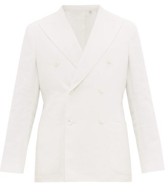 Odyssee - Henri Double-breasted Twill Blazer - Mens - White