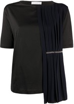 Fabiana Filippi Jed pleat overlay T-shirt