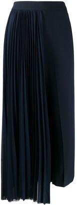 Erika Cavallini Cropped Pleated Panel Trousers