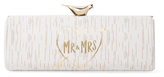 Kate Spade Wedding Belles Mr. & Mrs. Log Leather Convertible Clutch