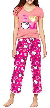 Hello Kitty Ribbed Tee or Plush Pajama Pants