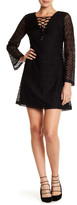 Jessica Simpson Long Sleeve Lace Up Dress