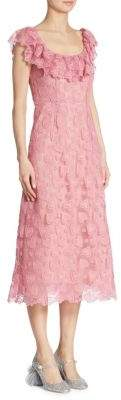 Miu Miu Heart-Macrame Lace Dress