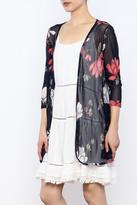 Wish Collection Sheer Floral Kimono