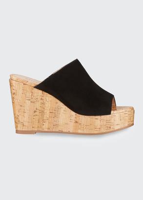 Stuart Weitzman Margarite Suede Wedge Sandals