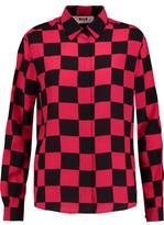 MSGM Two-Tone Checked Silk Shirt