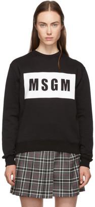 MSGM Black Box Logo Sweatshirt
