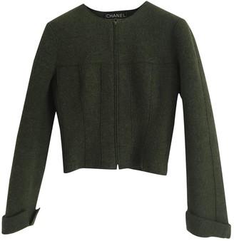 Chanel Green Wool Jackets