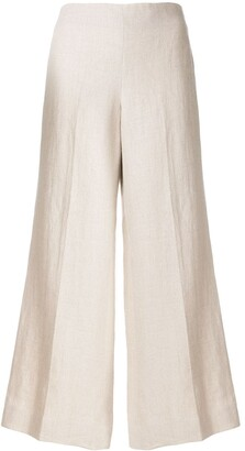 Theory Wide-Legged Cropped Trousers