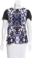 Rebecca Taylor Floral Print Silk Top w/ Tags