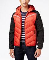 MICHAEL Michael Kors Men's Big and Tall Hooded Contrast Down Coat