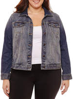 Boutique + + Denim Jacket-Plus