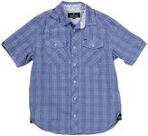 Buffalo Sapux Chambray Plaid Shirt (Toddler/Kid) - Azurite-Large