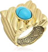 House Of Harlow Ribbed Valda Cocktail Ring