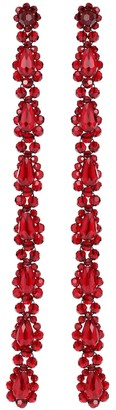 Simone Rocha Crystal-embellished drop earrings