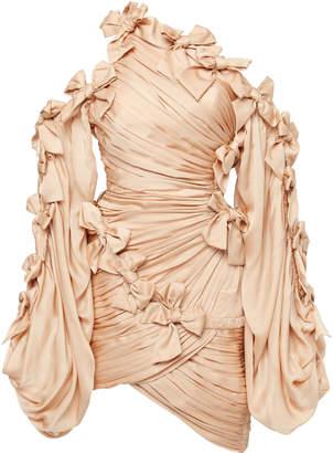 Zimmermann Sabotage Bow-Detailed Asymmetric Silk Mini Dress