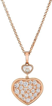 Chopard Happy Hearts 18K Rose Gold & Diamond Pendant Necklace