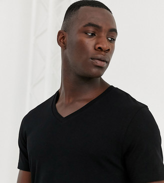 ASOS DESIGN Tall t-shirt with v neck in black