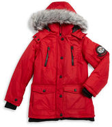 Hawke & Co Girls 7-16 Faux Fur Trimmed Weather Resistant Coat