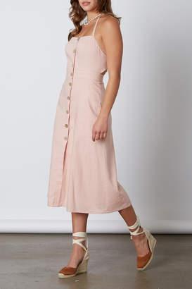 Cotton Candy Open Back Midi Dress