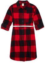 Arizona Belted Long Sleeve Cuffed Shirt Dress - Big Kid Girls