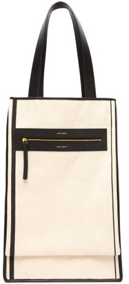 Lutz Morris Saylor Leather-trimmed Canvas Tote Bag - Mens - Beige Multi