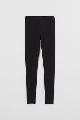 H&M Jersey Leggings - Black
