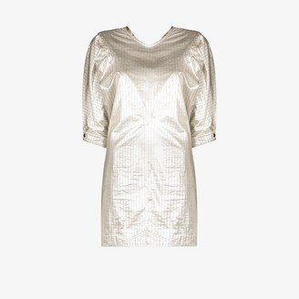Isabel Marant Metallic Pinstripe-Print Mini Dress