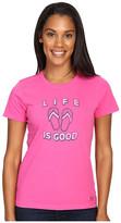 Life is Good Flip Flops Crusher Tee