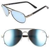 Revo Men's 'Raconteur' 58Mm Polarized Aviator Sunglasses - Chrome/ Graphite